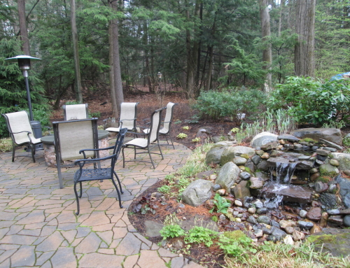 Waterfall and Patio